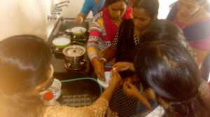 Chocolate making class for housewives